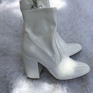 Steve Madden White Latex Boots | Poshmark